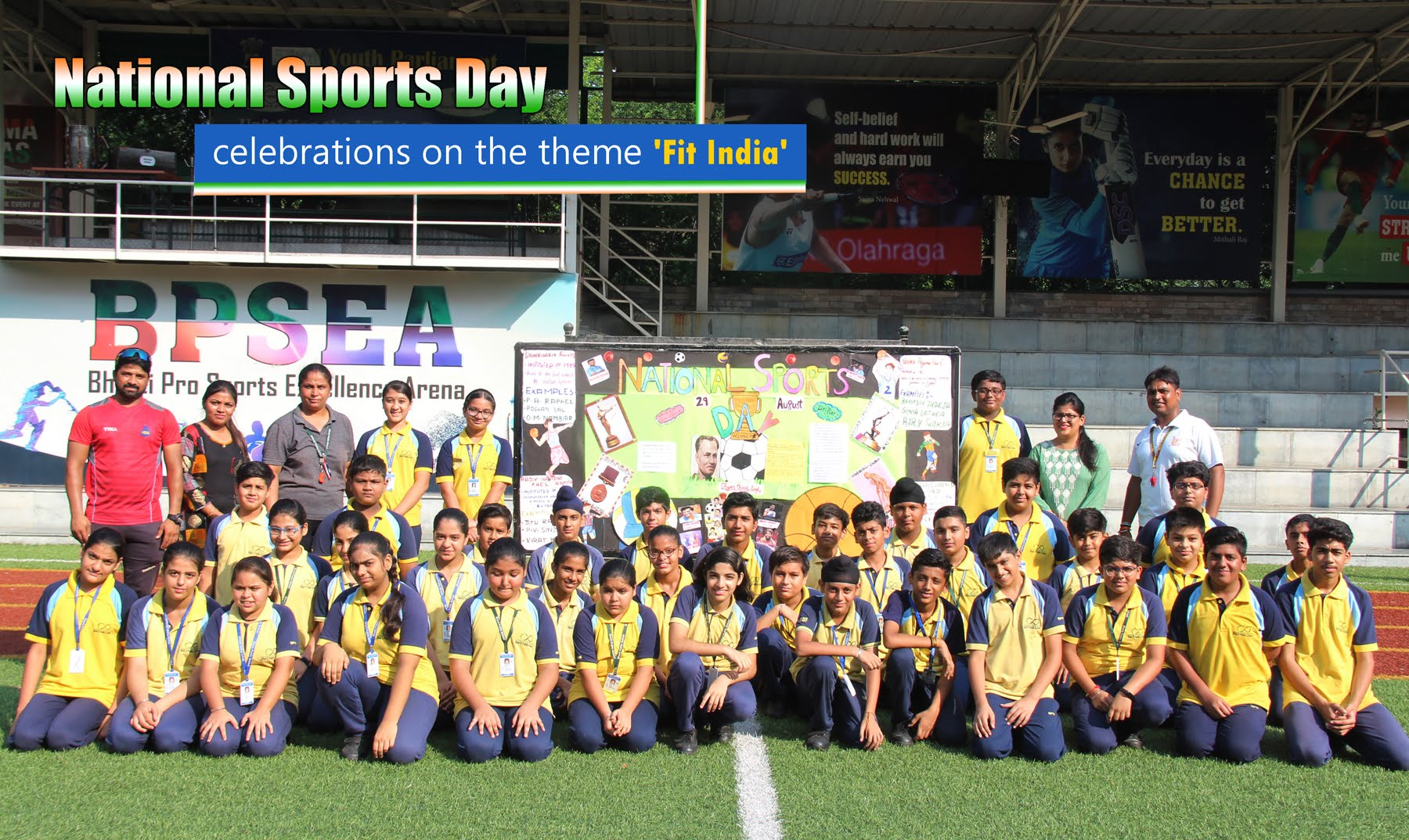 National Sports Day celebrations on the theme 'Fit India'